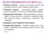 rating methodology of crisil contd
