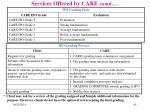 services offered by care contd4