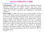 services offered by care