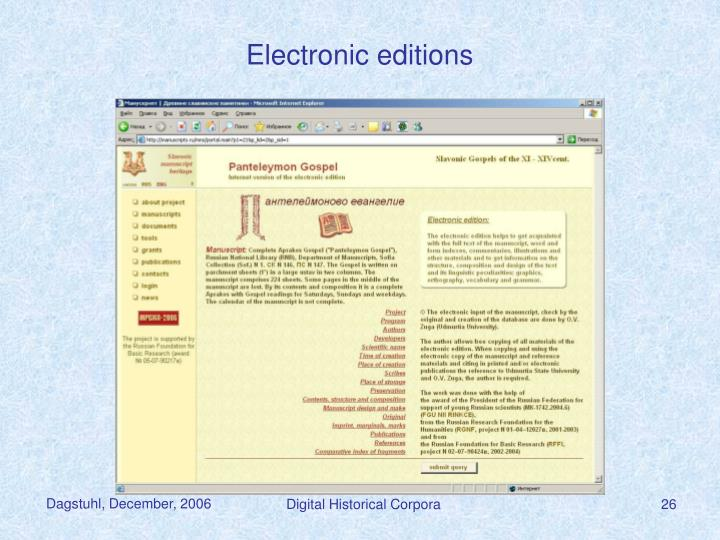 Electronic editions