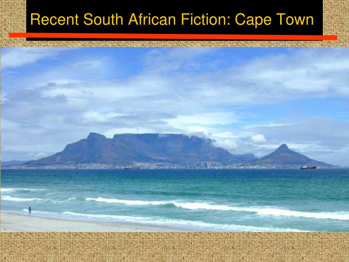 Recent south african fiction cape town1
