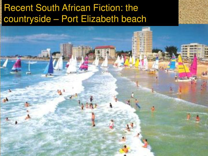 Recent South African Fiction: the