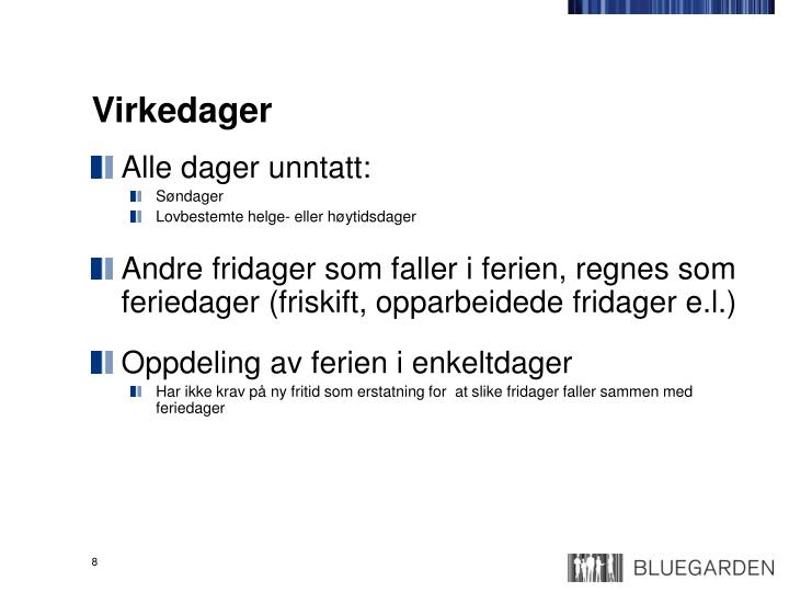 Virkedager