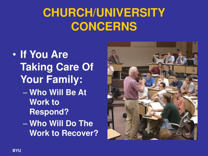 CHURCH/UNIVERSITY CONCERNS