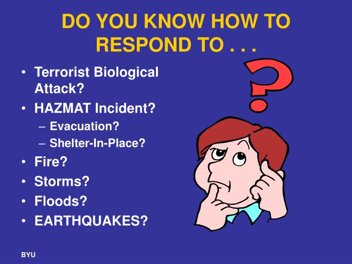 DO YOU KNOW HOW TO RESPOND TO . . .