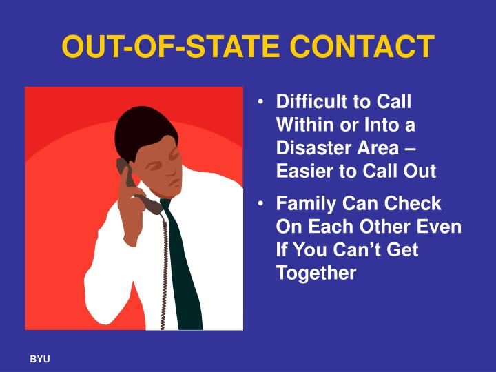 OUT-OF-STATE CONTACT