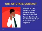 out of state contact