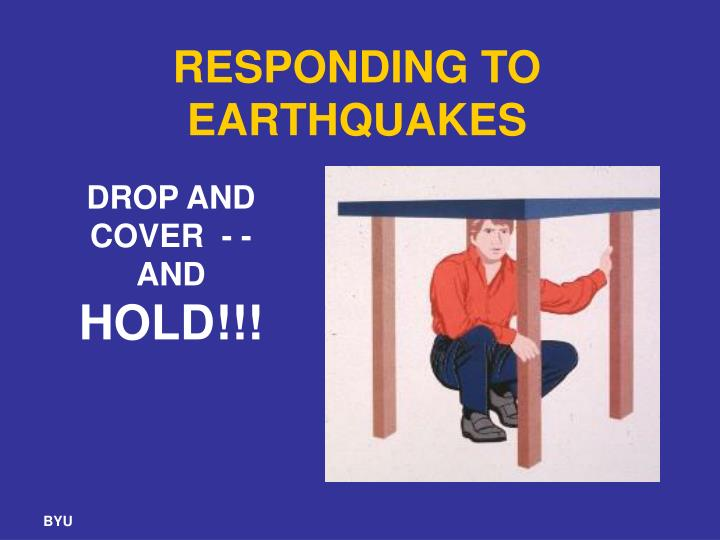 RESPONDING TO EARTHQUAKES