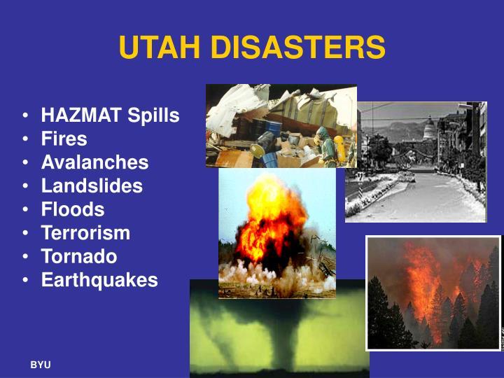 UTAH DISASTERS