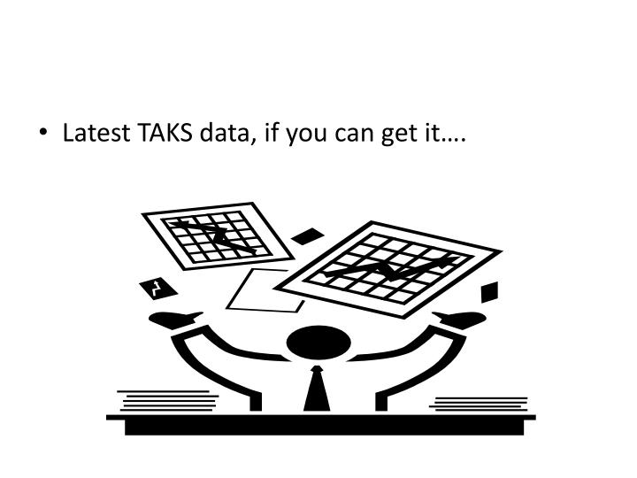 Latest TAKS data, if you can get it….