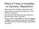effect of treaty of versailles on germany reparations