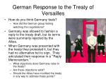german response to the treaty of versailles