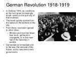 german revolution 1918 1919