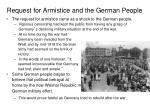 request for armistice and the german people