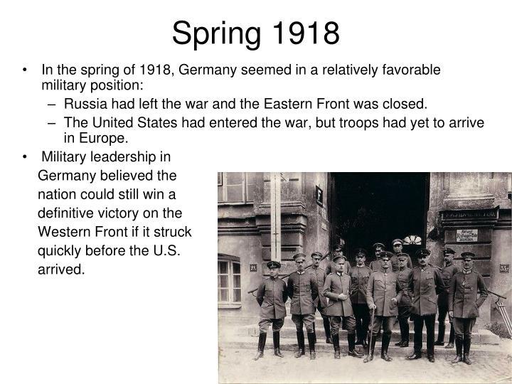 Spring 1918