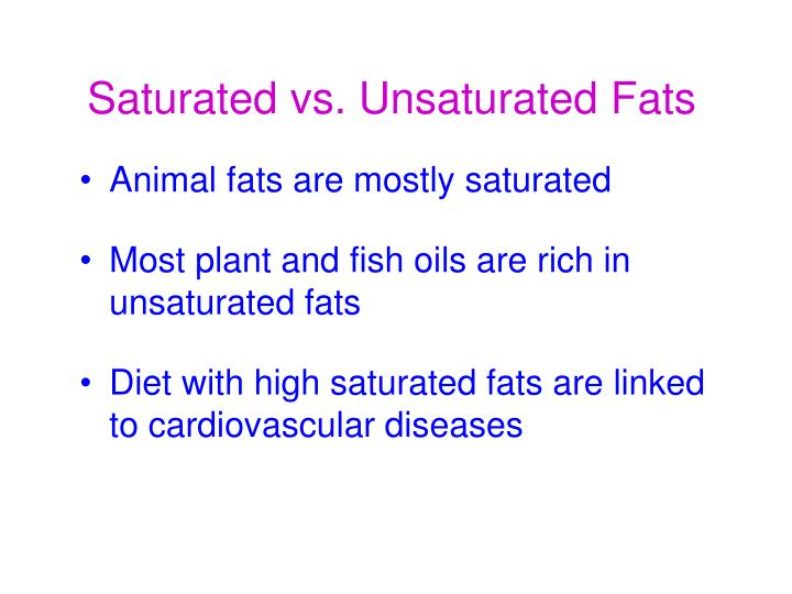 Saturated Fat Versus Unsaturated Fat 98