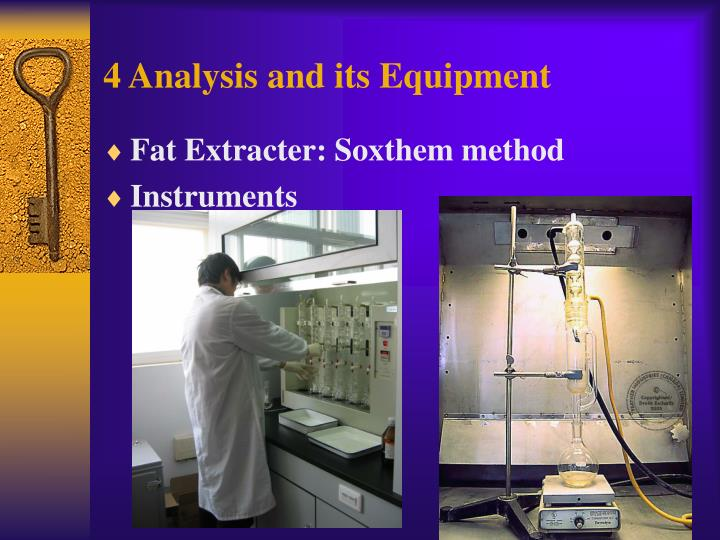 4 Analysis and its Equipment
