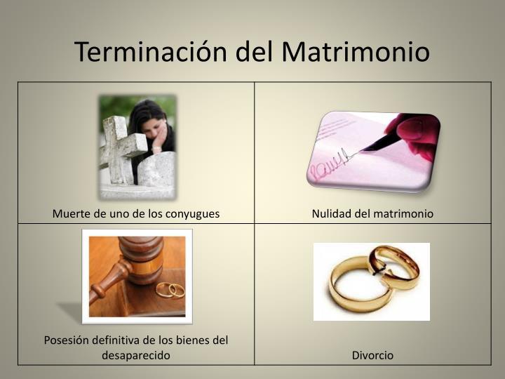 Terminación del Matrimonio