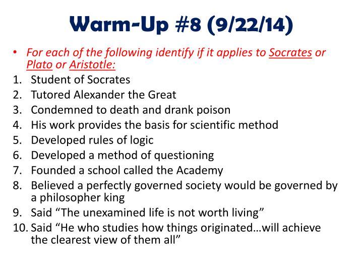 Warm-Up #8 (9/22/14)