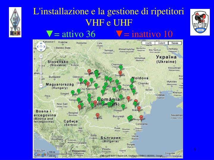 L'installazione e la gestione di ripetitori  VHF e UHF