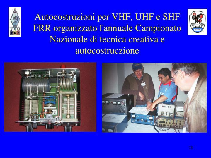 Autocostruzioni per VHF, UHF e SHF