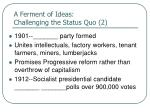 a ferment of ideas challenging the status quo 2