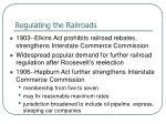 regulating the railroads