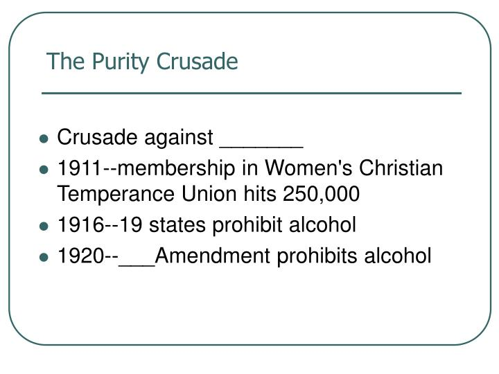 The Purity Crusade