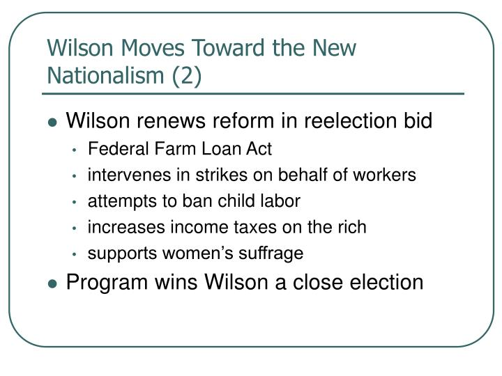 Wilson Moves Toward the New Nationalism (2)