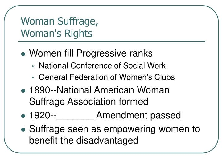 Woman Suffrage,