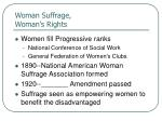 woman suffrage woman s rights