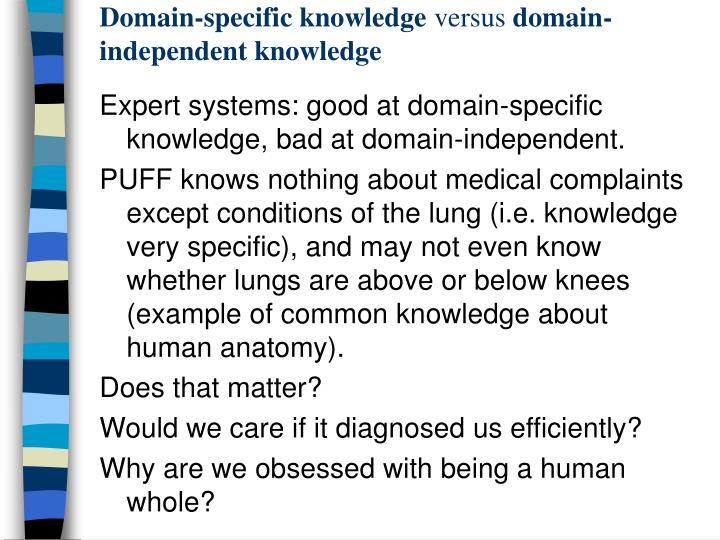 Domain-specific knowledge