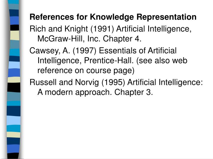 References for Knowledge Representation