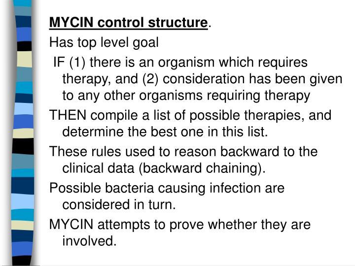 MYCIN control structure