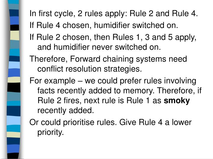 In first cycle, 2 rules apply: Rule 2 and Rule 4.