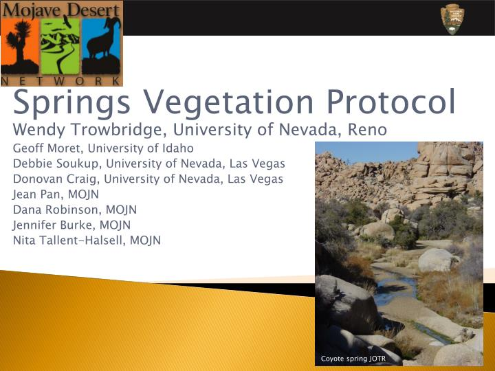 Springs Vegetation Protocol