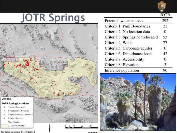 Coyote spring JOTR
