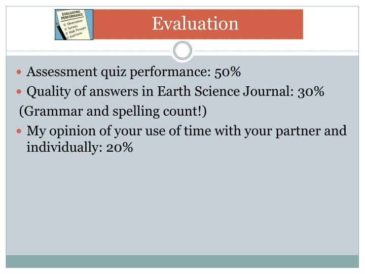 Assessment quiz performance: 50%