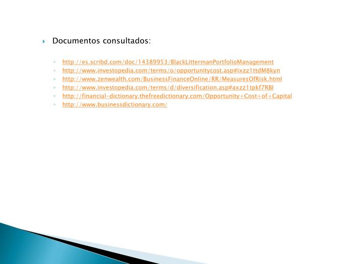Documentos consultados: