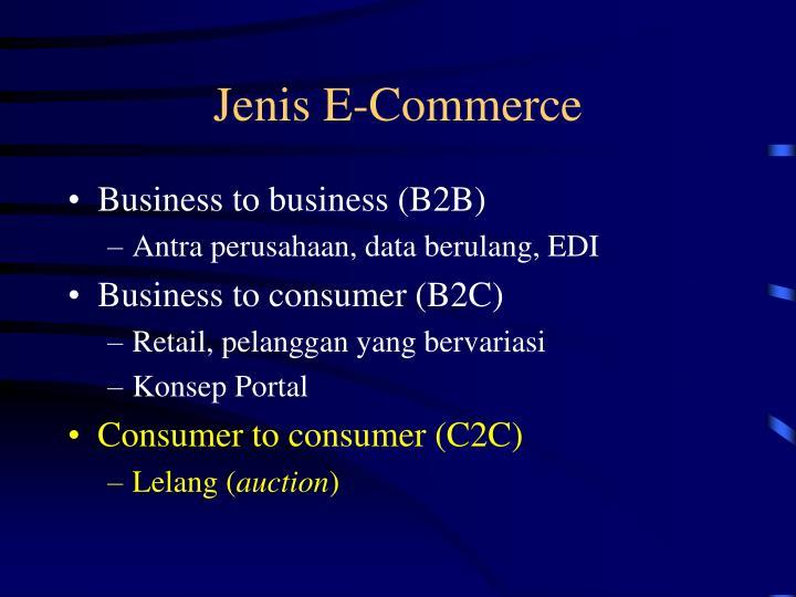 Jenis E-Commerce