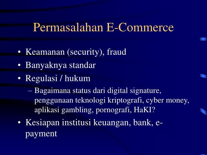 Permasalahan E-Commerce