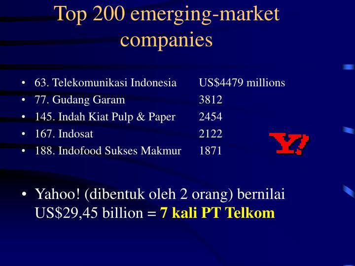 Top 200 emerging-market companies
