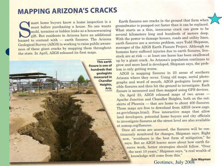 Geotimes, July 2008