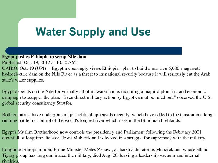 Egypt pushes Ethiopia to scrap Nile dam