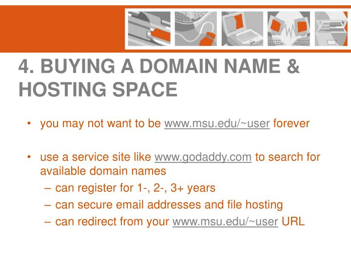 4. BUYING A DOMAIN NAME & HOSTING SPACE
