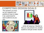 competing design goals