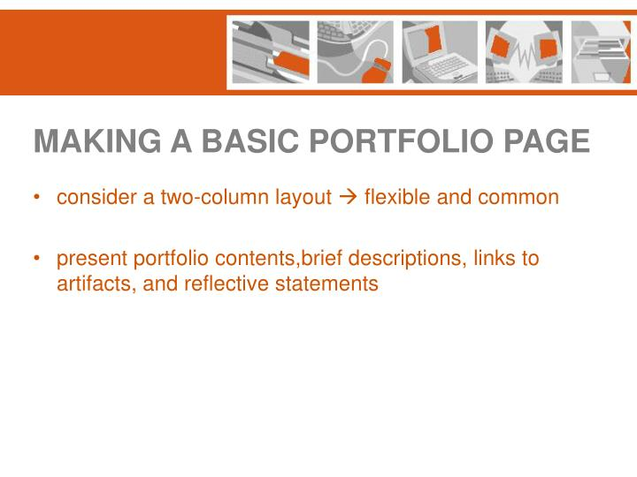 MAKING A BASIC PORTFOLIO PAGE