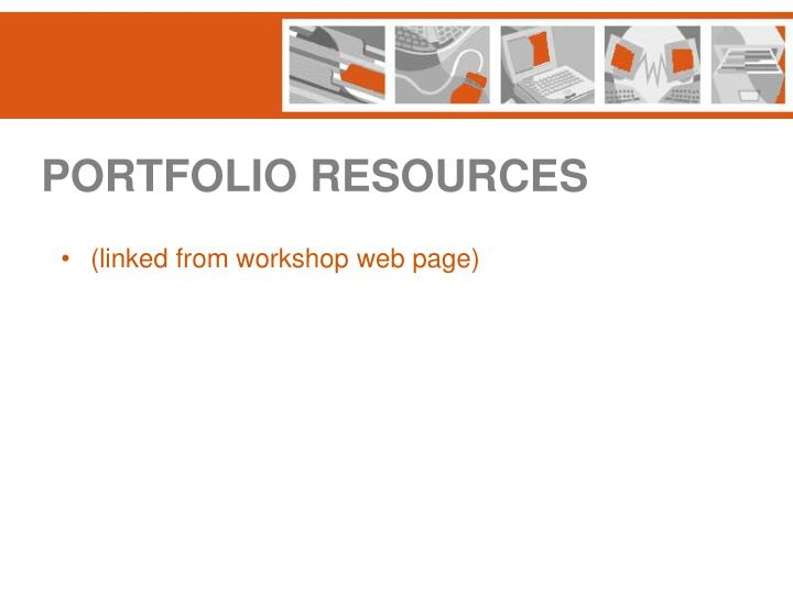 PORTFOLIO RESOURCES