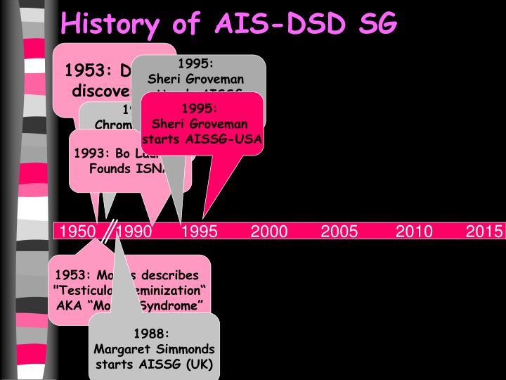 History of AIS-DSD SG