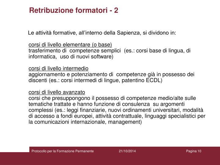 Retribuzione formatori - 2